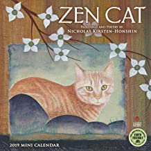 Zen Cat 2019 Mini Wall Calendar: Paintings and Poetry by Nicholas Kirsten-Honshin
