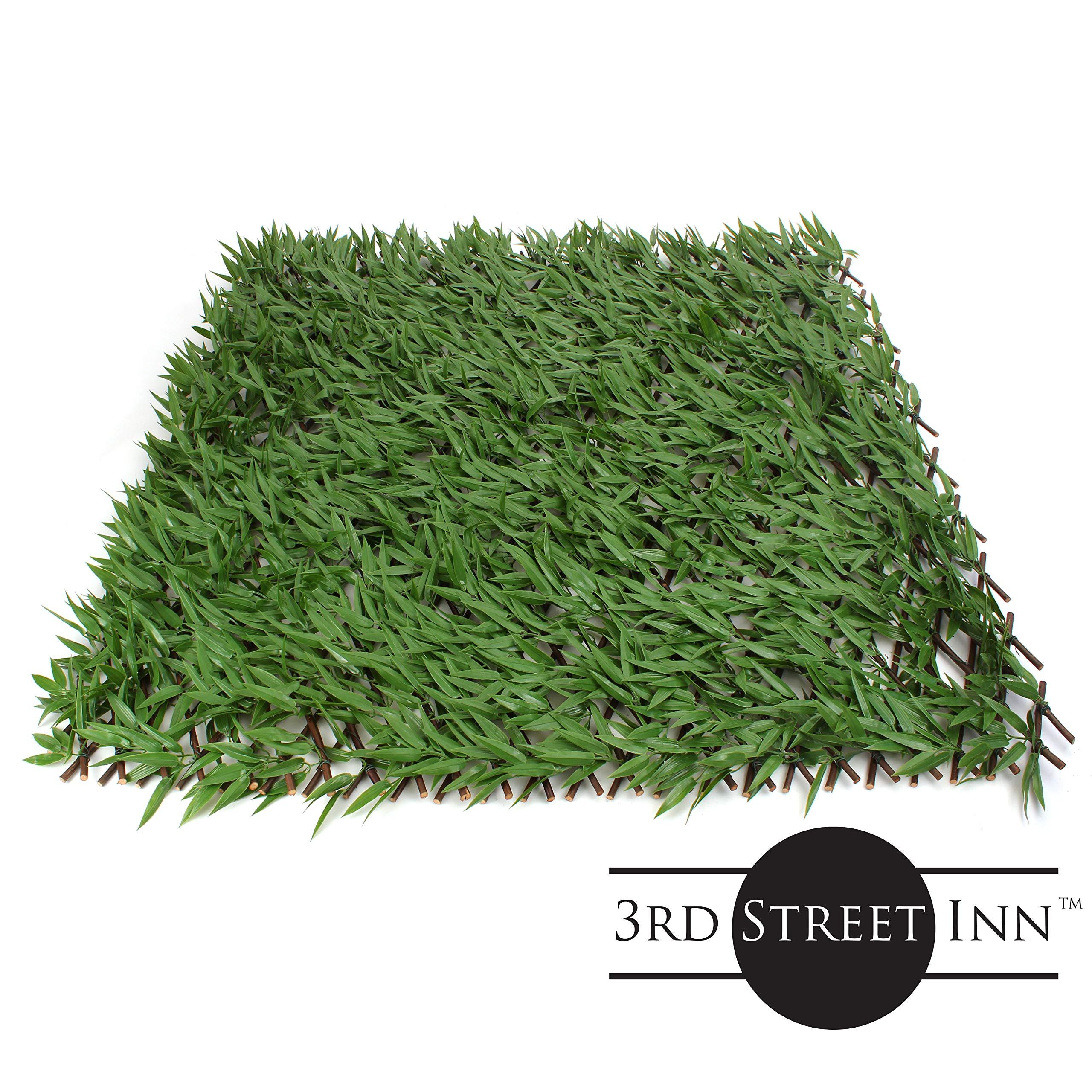3er Street InnTM enrejado de hojas – Panel de vegetación de bambú ...