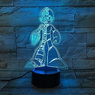 WoloShop Lampara LED Megaman Capcom Cambia Color USB Luz Nocturna