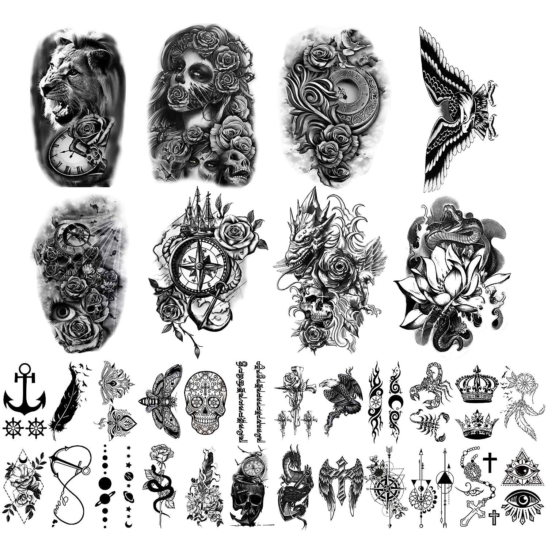 Yazhiji 32 Sheets Dallas Mall Temporary Tattoos Stickers Body 8 Fake Denver Mall