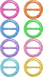 8 Pieces 80's Party Plastic Fashion T Shirt Clips, T Shirt Scarf Clip Ring