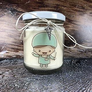 Regalo per Medico specialista Candela in cera di soia personalizzata con ciondolo per radiologo veterinario infermiera den...