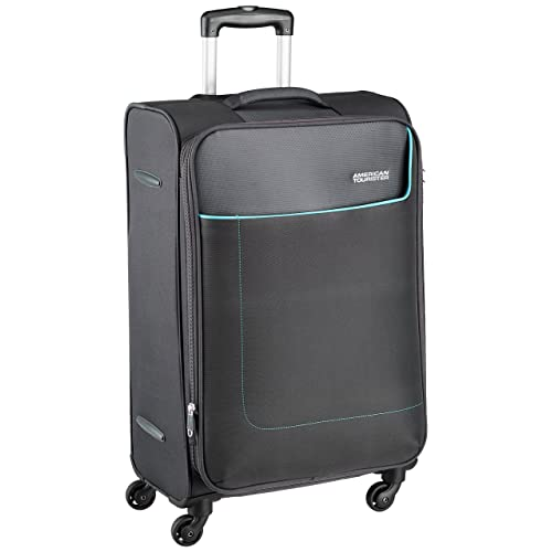 1f8a95625296 American Tourister Jamaica Polyester 58 cms Grey Softsided Carry-On (27O (0)