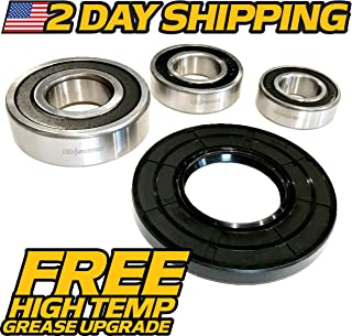 (1 Kit) HD Switch Replaces Maytag Kitchenaid Kenmore Elite Front Load Washer Tub Bearing & Seals Kit W102538661, AP4426951, 8181666 - Hi Temp Grease Upgrade - HD Switch