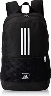 adidas Unisex Classic 3-Stripes Backpack, Black/White/Solar Red