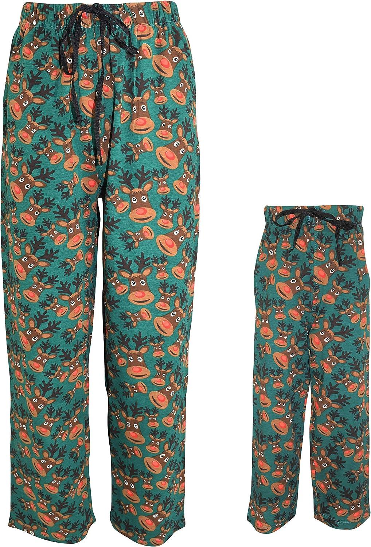 UB Christmas Rudolph Matching Family Holiday Pajama Pants