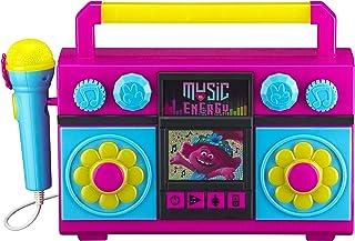 KIDdesigns Trolls World Tour Sing Along Karaoke Boombox for Kids, Built in Music LED Flashing Lights w/ Mic, Toys for Kids...