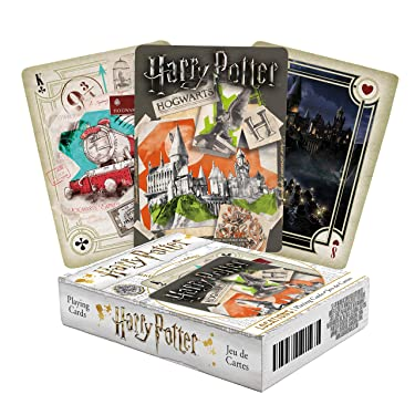 AQUARIUS Harry Potter Playing Cards - Locations Themed Deck of Cards for Your Favorite Card Games - Officially Licensed Harry Potter Merchandise & Collectibles - Poker Size with Linen Finish