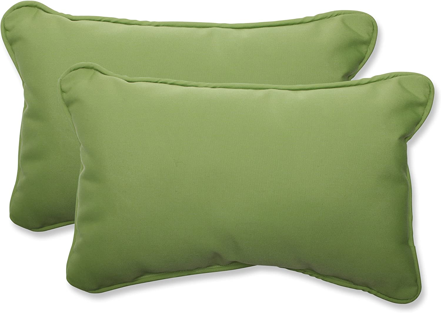 Pillow Perfect Indoor Outdoor Rectangular Throw Pillow (Set of 2) with Sunbrella Canvas Ginkgo Fabric, 18.5 in. L X 11.5 in. W X 5 in. D