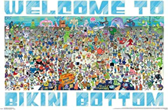 Trends International Nickelodeon Spongebob-Every Character Ever 19 Clip Bundle Wall Poster, 22.375