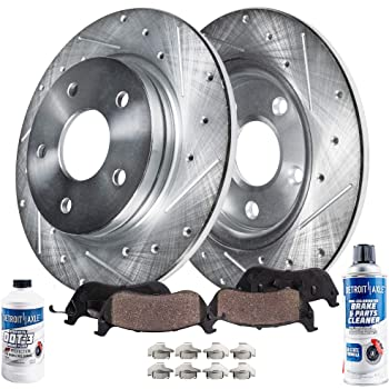 Max Brakes Front Premium OE Rotors and Ceramic Pads Brake Kit KT175541-7