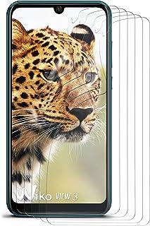 moex kristallklar HD skyddsfilm kompatibel med Wiko View3   displayskyddsfilm reptålig nästan osynlig, ultraklar 5 x stycken