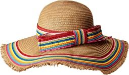Betsey Johnson - Rainbow Raw Edge Floppy Hat