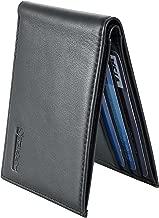 Chelmon Ultimate Slim Mini Wallet Front Pocket Minimalist Wallet Bifold Genuine Leather RFID Blocking