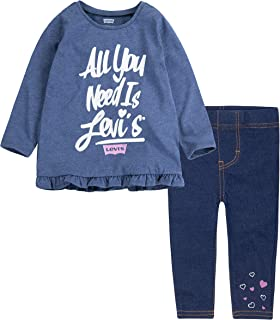 Baby Girls' Long Sleeve Tunic Top and Leggings 2-Piece Set
