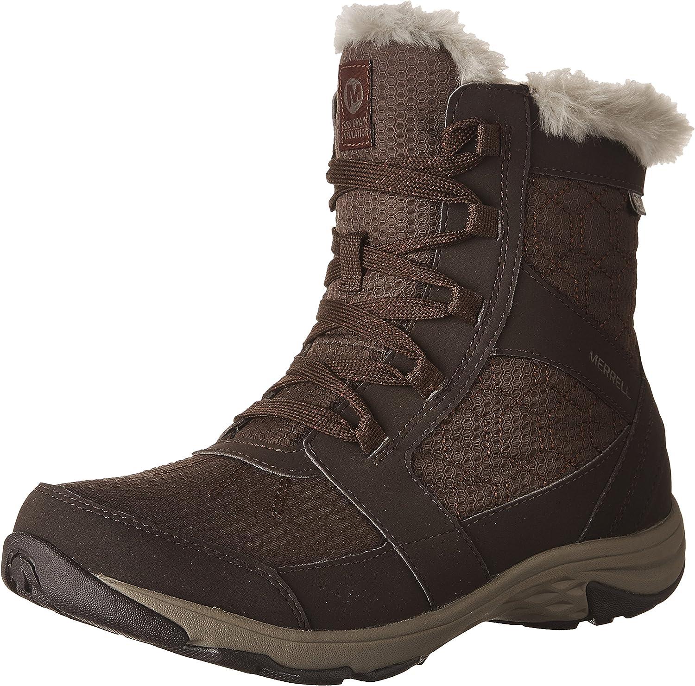 Merrell Women's Albury Mid Polar Waterproof Snow Boots