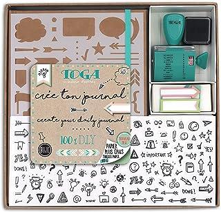 Draeger by Toga - Kit Bullet Journal - Kit Complet pour Créer son premier Bullet Journal - 1 Cahier à Petits Pois + 1 Poch...