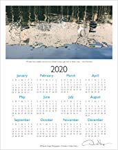 2020 Water Poetry, Elegant One Page, Fine Art Wall or Desk Calendar. 11x14 Poster Print. Best Quality Birthday, Christmas, Mothers Day & Valentines Gifts for Women, Men & Kids. Unique Idea f