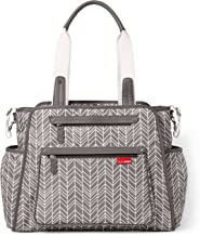 Skip Hop Diaper Bag Tote with Matching Changing Pad, Grand Central, Grey Feather