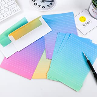 IMagicoo 32 Lovely Cute Writing Stationery Paper Letter Set with 16 Envelope + 1 Sheet Label Seal Sticker (Style-9(8.3x5.6))
