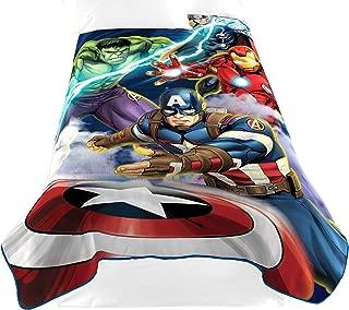 Marvel Avengers Blue Circle Fleece Plush Blanket, 62 x...