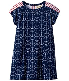 Seashell Anchors A-Line Dress (Toddler/Little Kids/Big Kids)