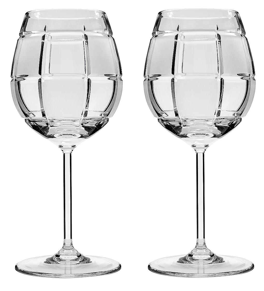 イブニング交換可能十億Victoria Bella tm8560、15オンス手作りクリスタルワインメガネon a Long Stem、クリアレッド/ホワイトワイン、メガネ、ウェディングギフトDrinkware Set of 2