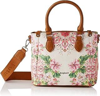 Desigual PU Hand Bag, Sac à main. Femme, Rouge, Taille unique