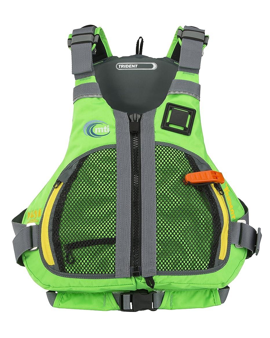MTI Adventurewear Trident PFD Life Jacket, Large/X-Large, Bright Green/Gray