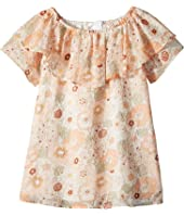 Flower Print Ruffle Dress (Toddler/Little Kids)