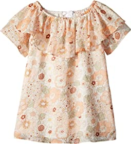 Chloe Kids Flower Print Ruffle Dress (Toddler/Little Kids)