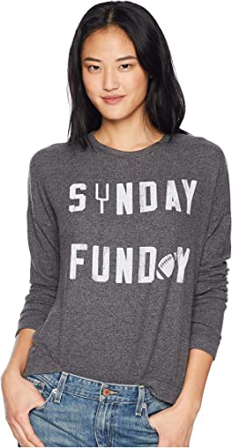 Sunday Funday Crew Neck Hacci Pullover
