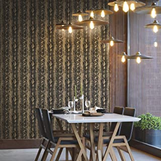 RoomMates Gold and Black Snake Skin Peel and Stick Wallpaper