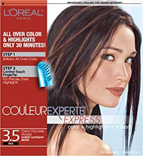 L'Oréal Paris Couleur Experte 2-Step Home Hair Color & Highlights Kit, Chocolate Mousse