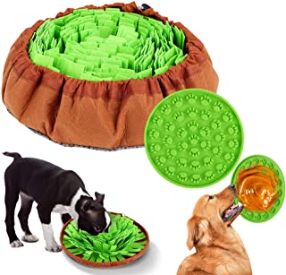FiGoal Pet Snuffle Mat for Dogs Nosework for Dogs Interactive Puzzle Dispenser Toys Machine Washable Encourages Natural Fo...