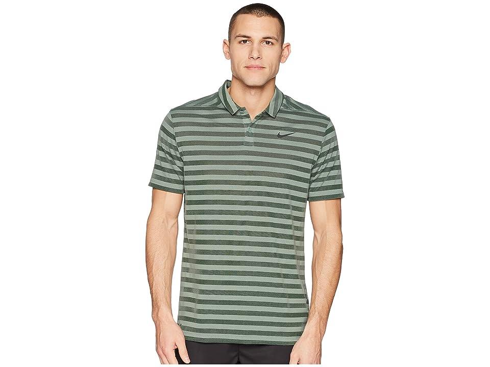 Nike Golf Breathe Stripe Polo OLC (Clay Green/Black) Men