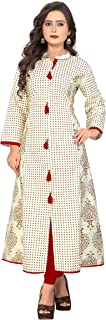 Crawler Creation's Women's Cotton Straight Kurti