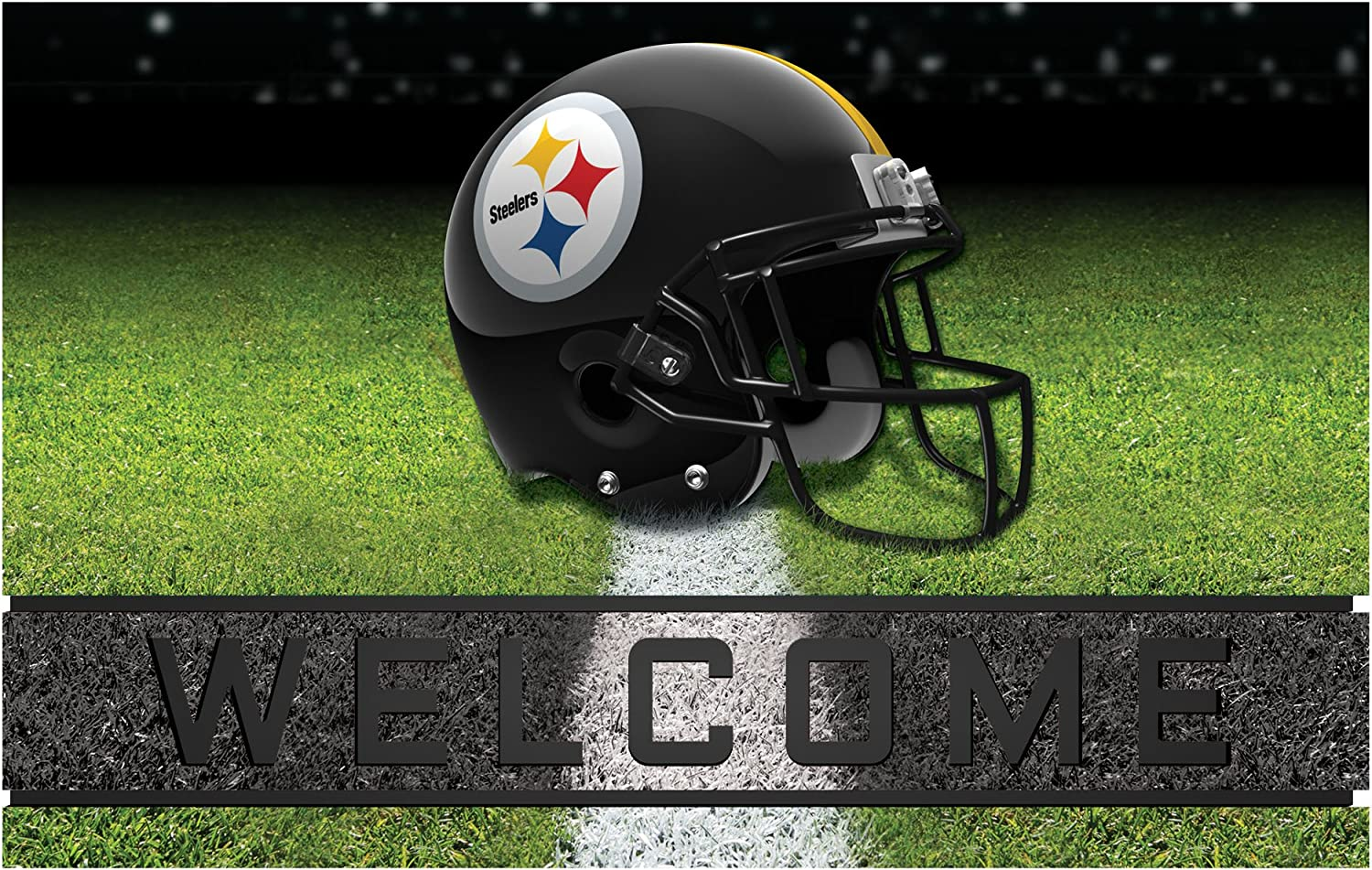 FANMATS 19957 Team Color Crumb Max 84% OFF Steelers Pittsburgh Door Sale Special Price M Rubber