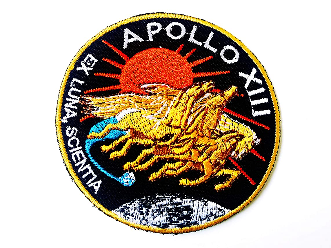 Tyga_Thai Brand NASA Apollo 13 Patch Embroidered Iron Sew on Badge Applique Astronaut Space Suit Program Souvenir DIY Costume (IRON-NASA-APOLLO-13)