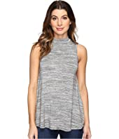 Mod-o-doc - Space Dye Rayon Spandex Jersey Mock Neck Sleeveless Top