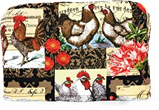 4 Slice Country Roosters Reversible Toaster Appliance Dust Cover Cozy 11.5(l) x 7.5(h) x 11.5(w)