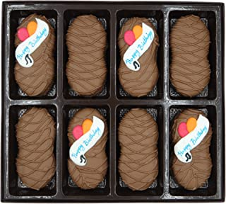 Philadelphia Candies Milk Chocolate Covered Nutter Butter Cookies, Happy Birthday Gift Net Wt 8 oz