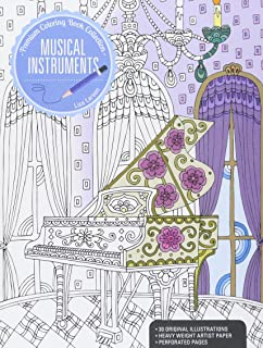 Musical Instruments: A Premium Coloring Book (Premium Coloring Book Collection)