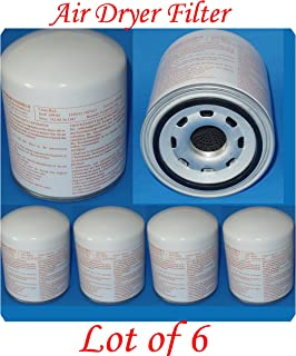 (Wholesales x6) Air Dryer Filter X-Ref 4324100202 1907612 Fits :Freightliner - Mack - Volvo - Bluebird Cummins - Mack - Ihc/navistar Kenworth -Peterbilt -Prevost - Sterling - Volvo - Western Star