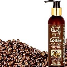 Khadi Global Arabica Coffee Damage Repair Shampoo With Broccoli Seed Oil + Best Hair Damage Control Shampoo + Best Hair Growth Shampoo + Best Shampoo For Chemically Treated Hairs Best Caffeine Shampoo, 200 ml