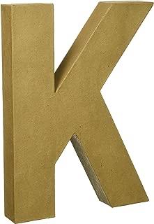 Darice 2861-K Paper Mache Letter 12Inx1.5In