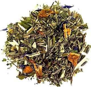 Nelson's Tea Lavender Orange Herbal Loose Leaf (Looseleaf) Tea Orange peel, blue vervain, California poppy, lavender, catnip, cornflower, basil, lemon verbena, and natural flavoring (2 oz.)