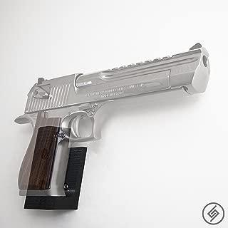 Desert Eagle Mount Right | Pistol Wall Display Storage Organization System | Unique Low Profile Design | Gun Safe Wall Garage | Gun Room Mounting Solution | Spartan Mounts