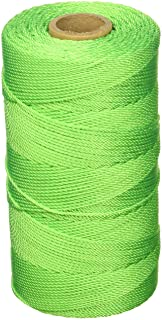 1//2 lb Pack of 6 Green Braided Mutual Industries 14662-39-500 Nylon Mason Twine 18 x 500 18 x 500/' Mutual inc.
