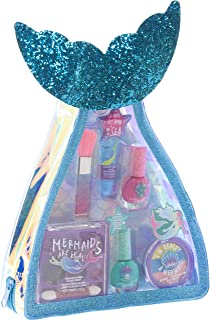 Townley Girl Mermaid Vibes Makeup Set with 8 Pieces, Including Lip Gloss, Nail Polish, Body Shimmer and More in Mermaid Ba...